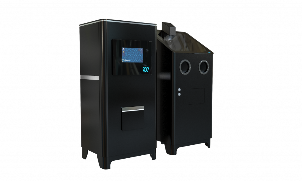 Gravity 3D-printer and Density cleaning cabinet