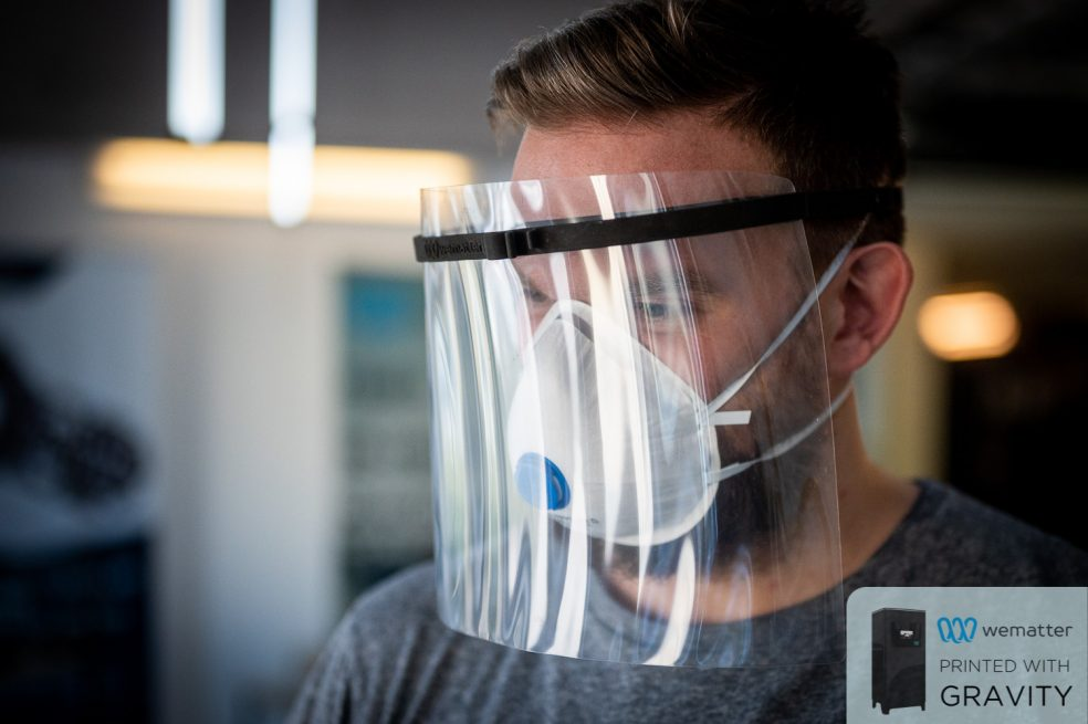 Personal protective equipment being worn to show the efficacy of Wematter's design.