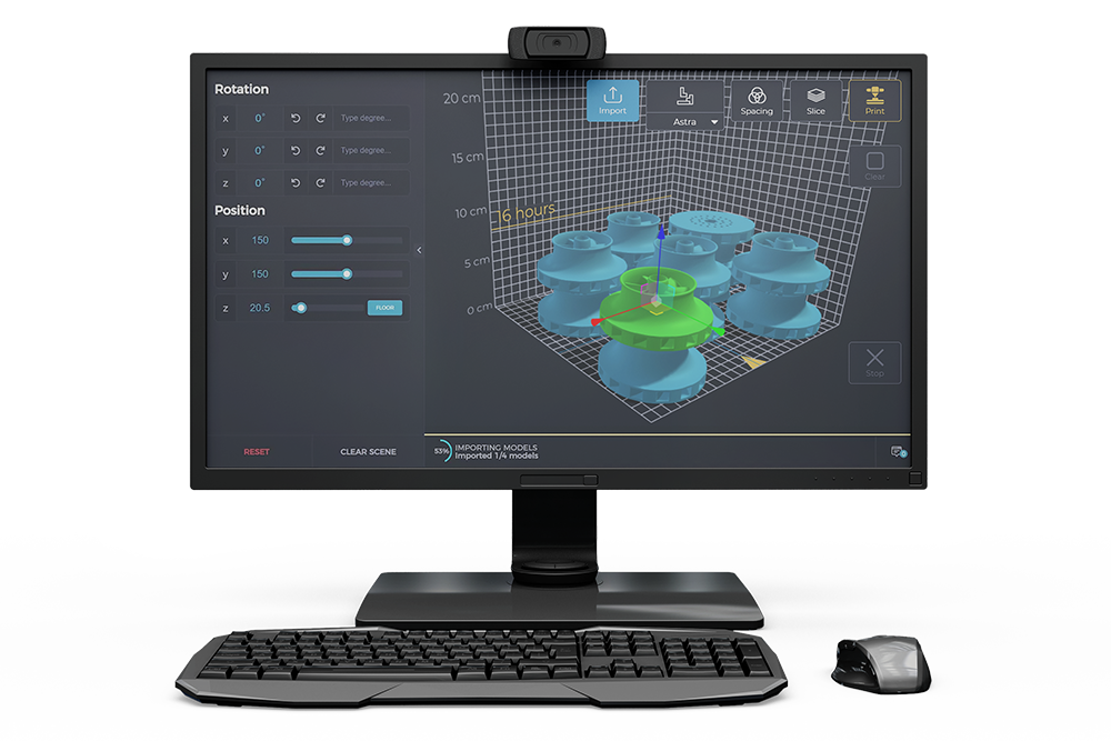 Deep Space software on monitor